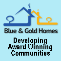 Blue and Gold Homes